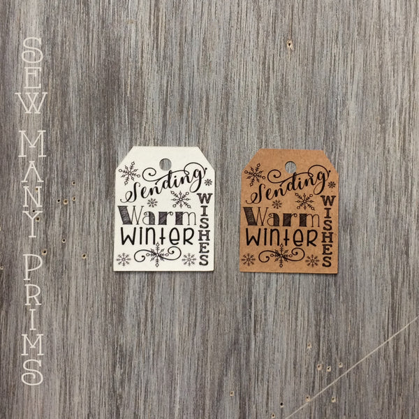 Warm Winter Wishes Tags, 12/pk - Sew Many Prims