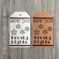 Snowy Days Frosty Nights Tags, 4/pk - Sew Many Prims