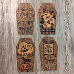 Coffin Shaped Halloween Tags