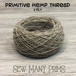 Hemp Thread - natural, 1-ply - Sew Many Prims