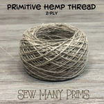 ball of 2ply natural hemp thread