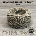 Hemp Thread - natural, 3-ply - Sew Many Prims