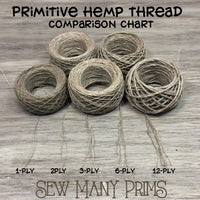 Hemp Thread - natural, 6-ply - Sew Many Prims