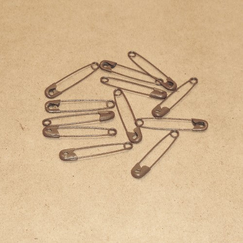 "DISCONTINUED Safety Pins 1 1/2""- brown, 12/pk"