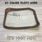 Rusty Wire, 20 ga. - Sew Many Prims