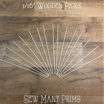 "Wooden Picks, 1/16"" x 7 1/2"" - 16/pk - Sew Many Prims"