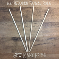 "CLEARANCE Wooden Dowels, 1/4"" x 12"" - 4/pk - Sew Many Prims"