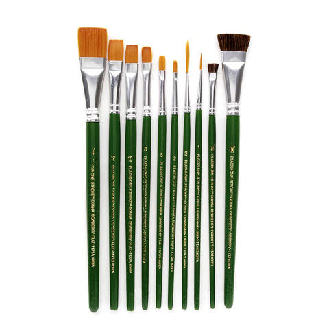 One Stroke Brush Set - 10 pieces - Sew Many Prims