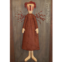 Raggedy angel door greeter with pip berry wings
