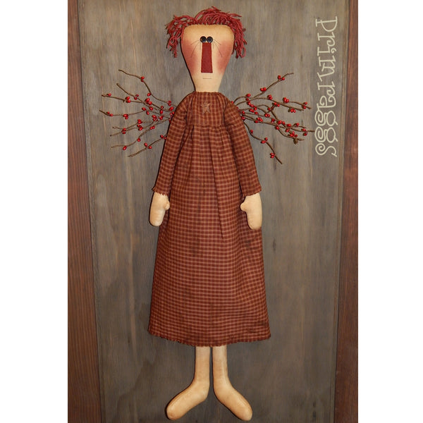 pr-107 Berry Ragg Angel Pattern - Sew Many Prims