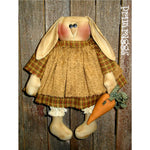 fabric primitive bunny holding carrot