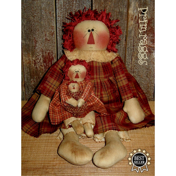 pr-142 Big, Little & Baby doll Annie - Sew Many Prims