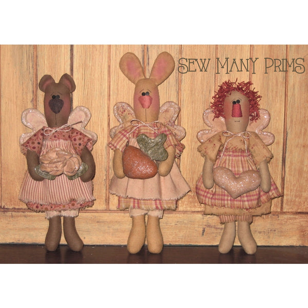 smp-018 Lil' Prim Pals Pattern - Sew Many Prims