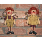smp-032 Rustic Raggedy Angels Pattern - Sew Many Prims