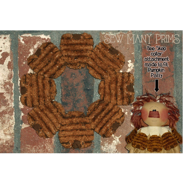 Bee skep collar for Pumpkin Patty doll