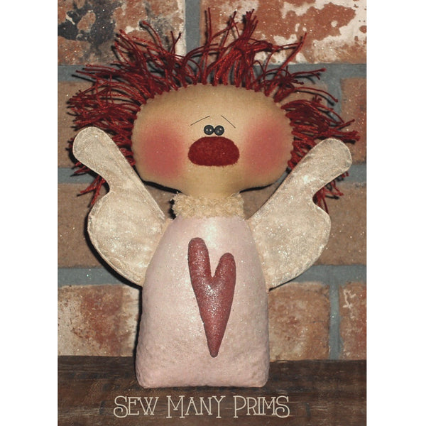 Annie sitter angel doll with painted body & wings