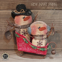 smp-052 Sleigh Riding Snowmen Pattern - Sew Many Prims