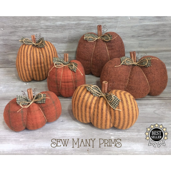 smp-066 Simple Folksy Pumpkins Pattern - Sew Many Prims