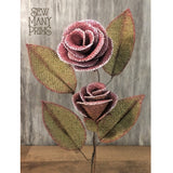 smp-079 Burlap Roses Pattern - Sew Many Prims