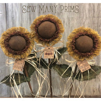 Sunflower Farmhouse Tags, 9/pk - Sew Many Prims