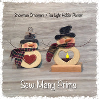 wood-002 Snowman Ornament/Tea Light Holder, Woodcraft Pattern - Sew Many Prims