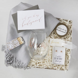 How to Build a 'Will You Be My Bridesmaid' Gift Box