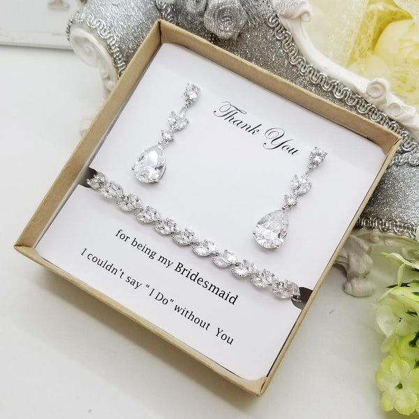 Infinity Collection Bridesmaid Gifts Bridesmaid Jewelry Bridesmaid Bracelet /& Hair Tie Set Makes The for Bridesmaids