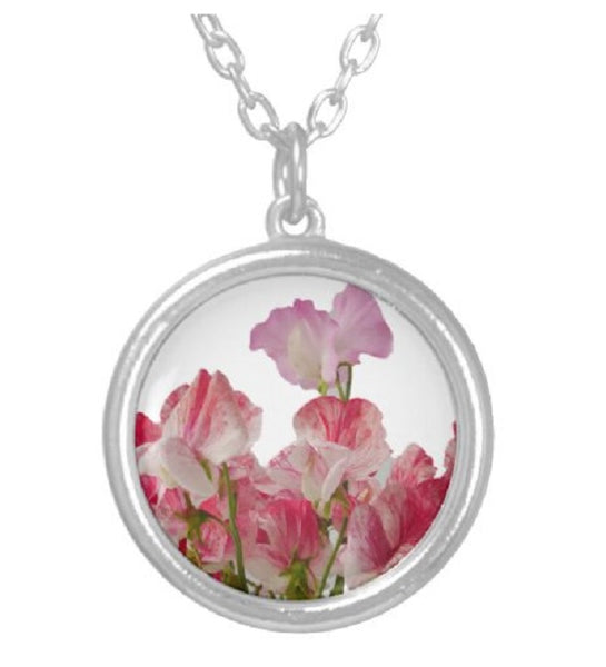 Stunning 925 silver chain and pink stone incased in silver comes in gift box perfect for that special lady in your life