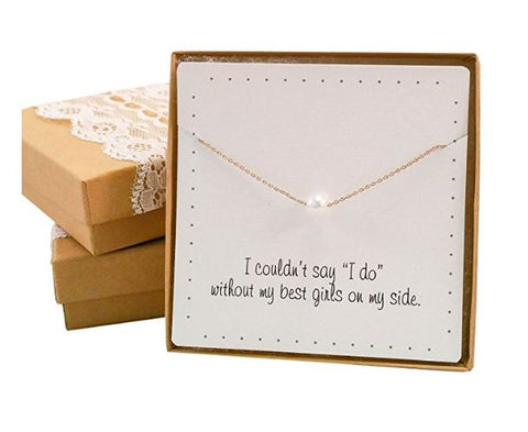 Simple Necklace for Bridesmaids