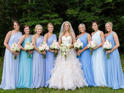 Different Shades of Bridesmaid Dresses
