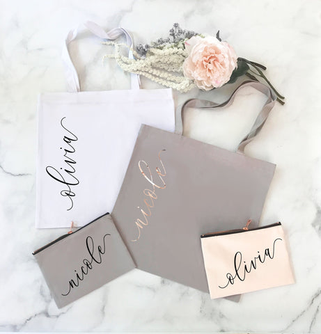 personalized bridesmaid gift tote