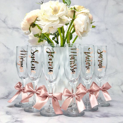 Personalized Champagne Flutes
