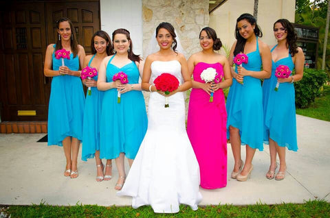 Different Color Dress for Maid of Honor