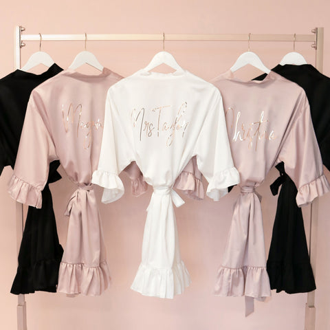 personalized bridesmaid robe