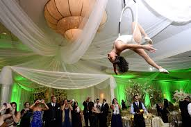 Wedding acrobat