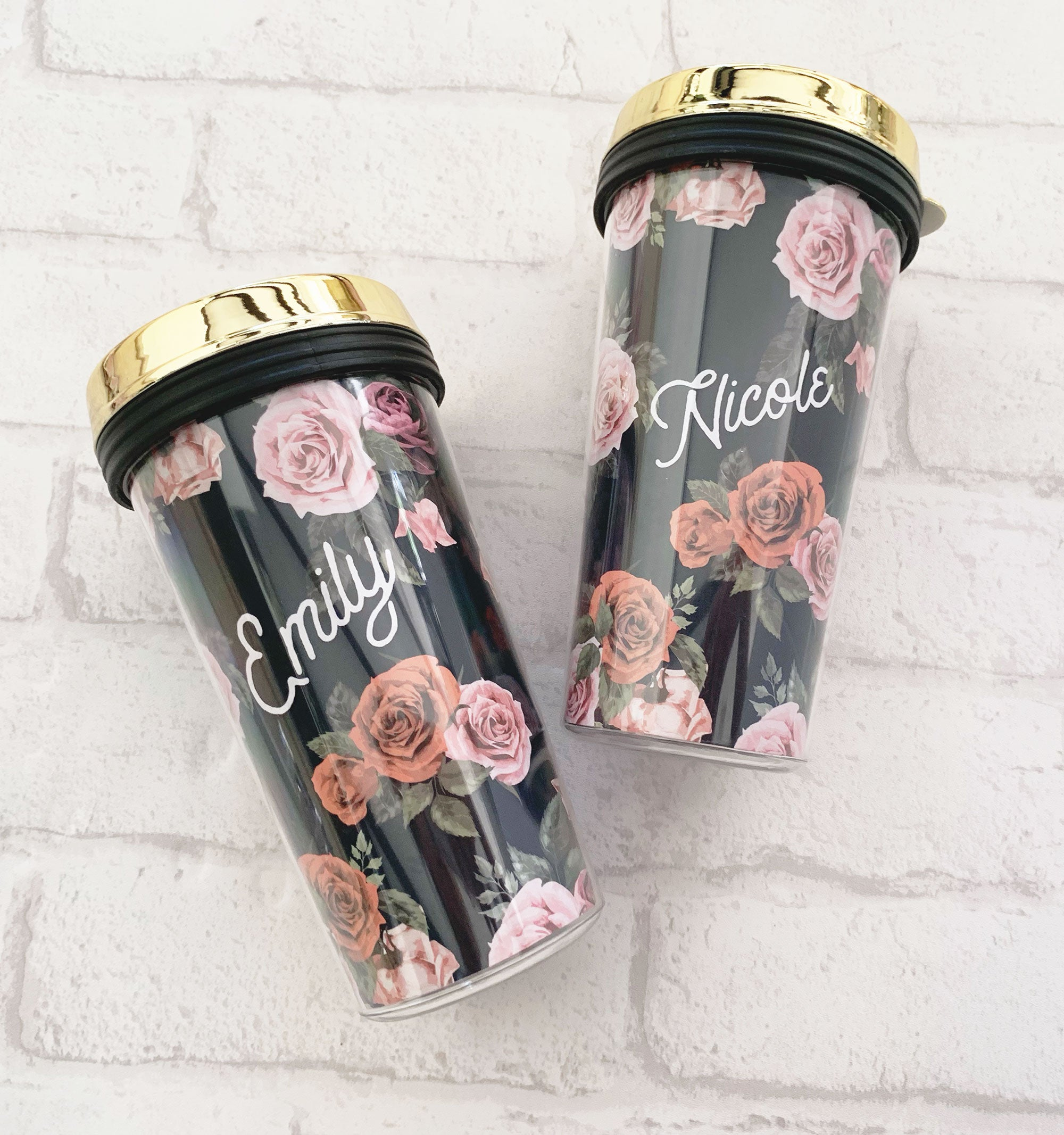 Floral Travel Coffee Tumbler