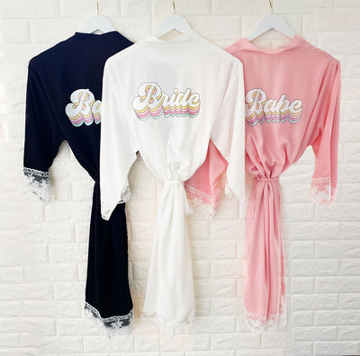 Retro Bride & Babe Robe