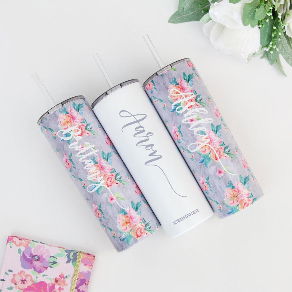 Floral Personalized Bridesmaid Tumbler
