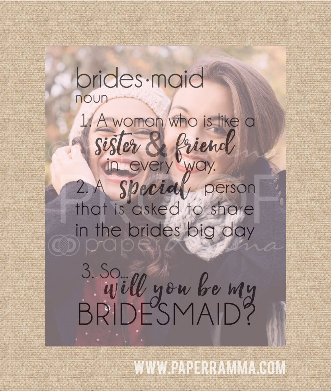 Will You Be My Bridesmaid Art