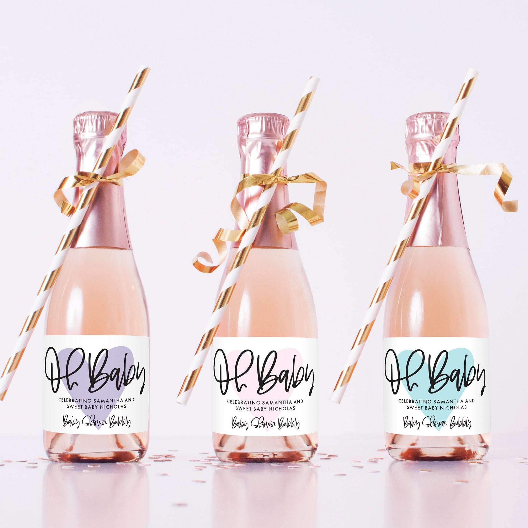 Oh Baby Mini Champagne Labels