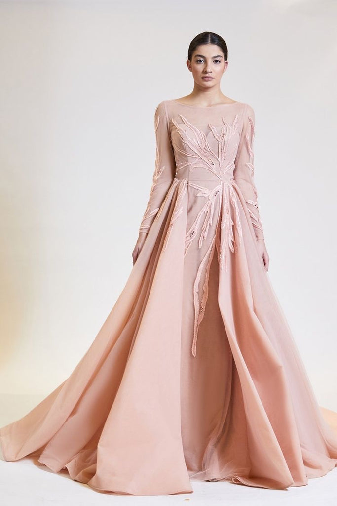 Blush Branches Ball Gown