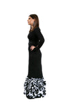 Asher Maxwell for Liylah black and white confetti bottom modest gown