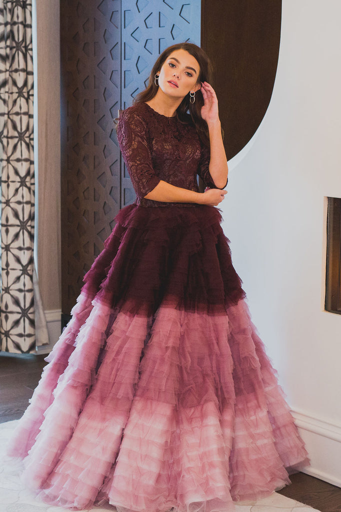 Ombré Tulle Ball Gown