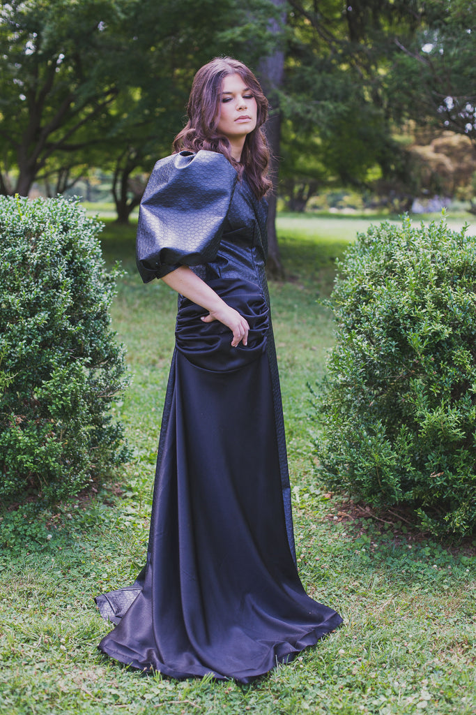 Lustrous  Leather Gown