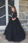 Tulle Tiered Girls Gown