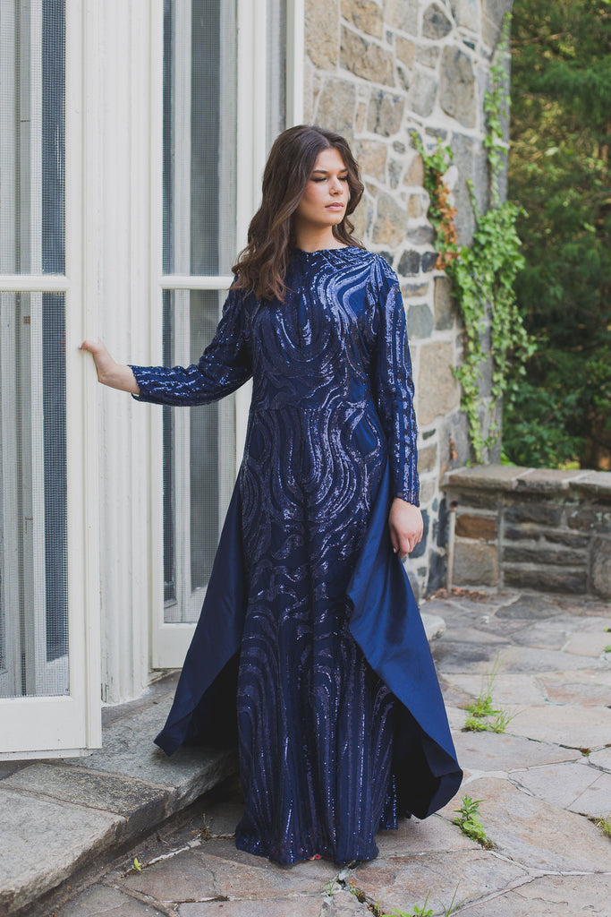 Midnight Cape Gown