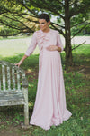 Box Pleat Maternity Gown