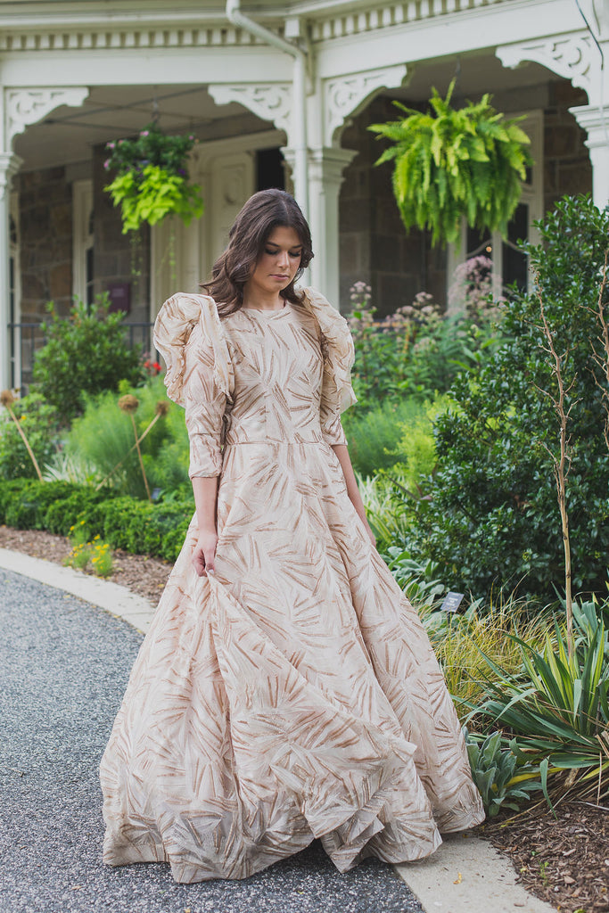 Gold Brushstroke Gown