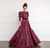 Pearled Merlot Gown