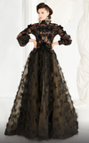 Lavish Black Ball Gown